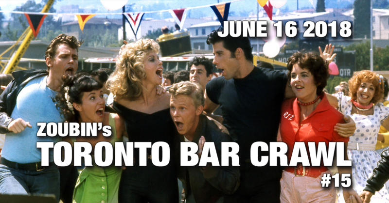 event poster toronto bar crawl #15