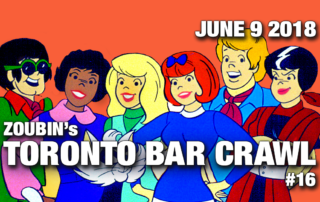 june9 toronto bar crawl event poster