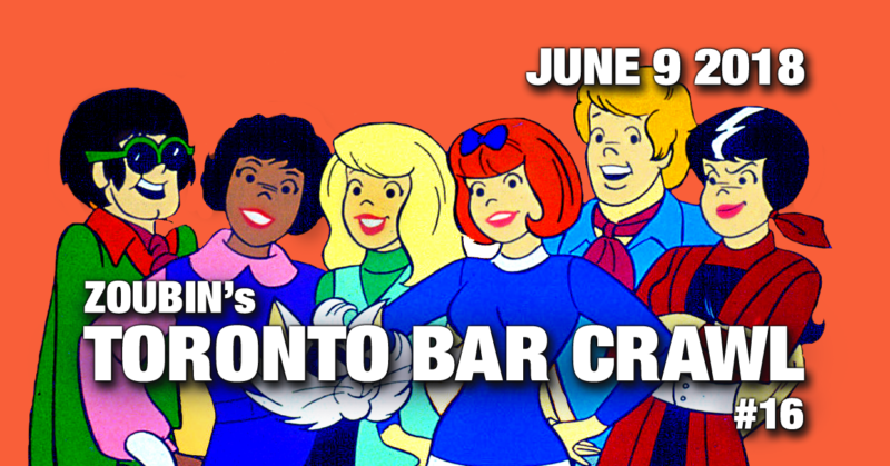 june9 toronto bar crawl event poster