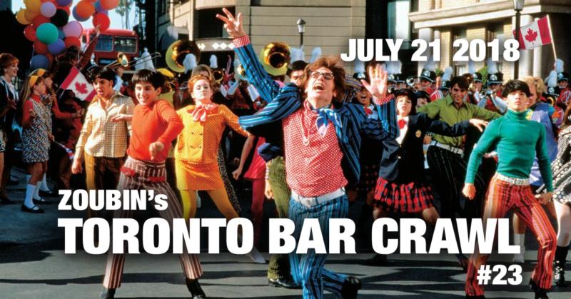 toronto bar crawl #23 event poster