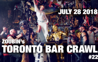 toronto bar crawl #22 event poster