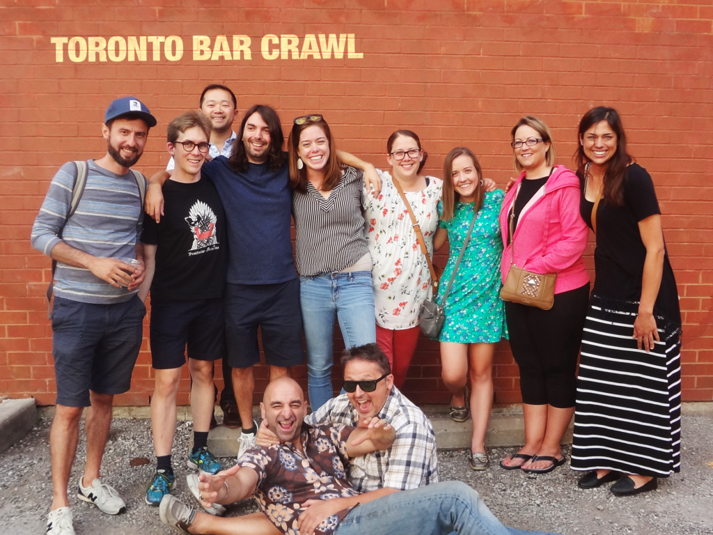 Toronto Bar Crawl #22 July 28 2018 groupshot