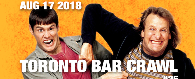 toronto bar crawl #25 event poster