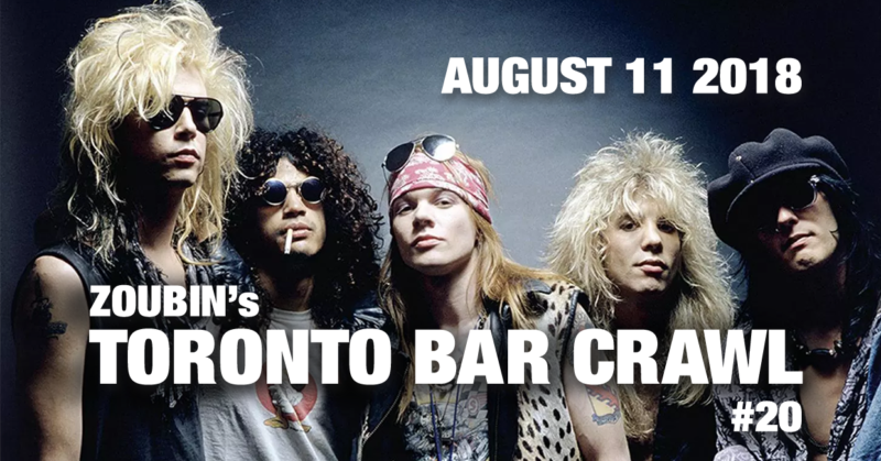toronto bar crawl 20 poster
