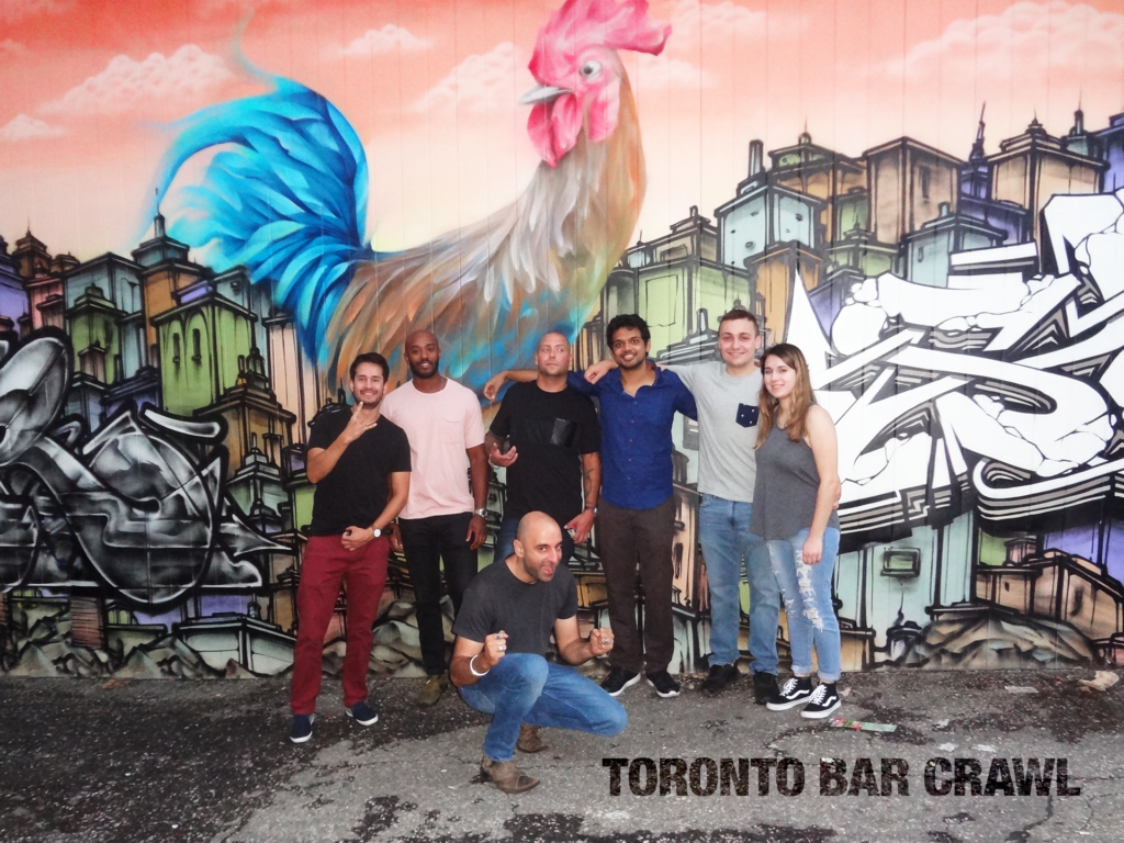 toronto bar crawl #24 group photo
