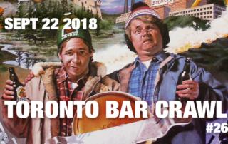 toronto bar crawl #26 event poster