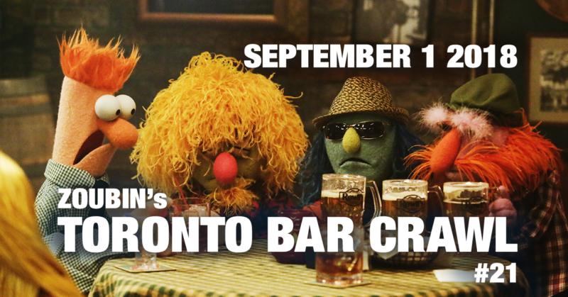 toronto bar crawl #21 poster