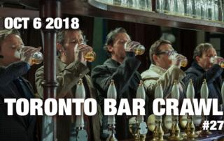 toronto bar crawl #27 event poster