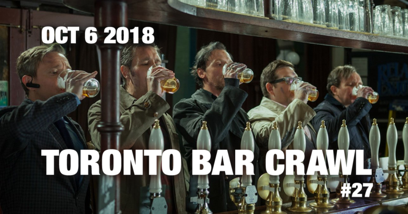 toronto bar crawl #27 event poster