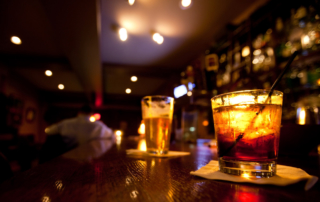 toronto bar crawl drinks on bar