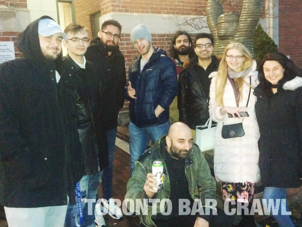 toronto bar crawl #31 group